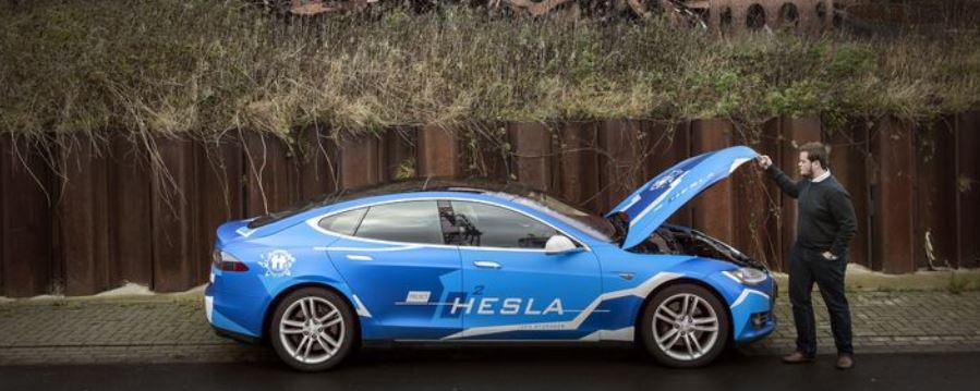 Familiebedrijf uit Hoogezand gelooft in Tesla's die op waterstof rijden