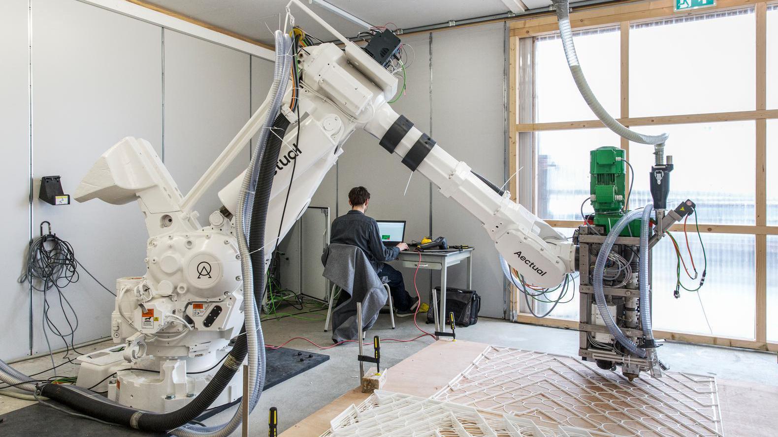 Een gebouw uit de 3D-printer? Aectual begint met de vloer