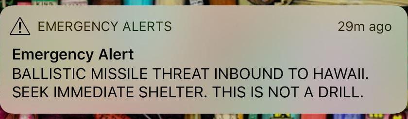 Woede na vals raketalarm in Hawaii