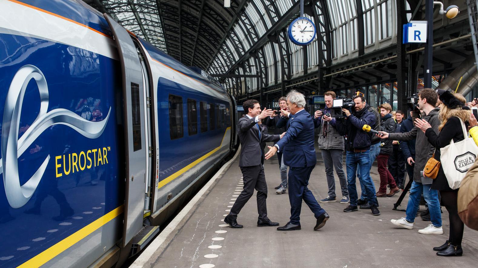 In één ruk van Londen naar Amsterdam CS